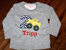 100 Monster Truck T Shirts MonogrammedPersonalized 2nd Birthday Appliqued Shirt