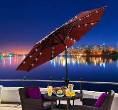 Solar Lighted Patio Umbrella by Triyae Com U003d Led Lights For Patio Umbrella Various Design