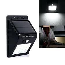 bright solar wall lights led power light motion sensor garden