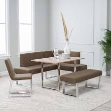 Modern Nook Dining Set - Home Decoration 2019 East West Fniture 5 Piece Hepplewhite Modern Breakfast Nook Ding Table Set 52 Corner And Chairs Kitchen How To Mix Decor Styles A Velvety Update 12 Ways Make A Banquette Work In Your Hgtvs Bremerton 3piece By Coaster At Dunk Bright Glass Top Room Sets 58 White 7 Pc Nook Setbreakfast And 6 53 With Bench Storage Best 25 Ideas For Small Decorate Sunny Designs Bayside With Side Chair