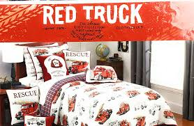 Amazon.com: Red Truck Clothing Co. Cotton Reversible TWIN Quilt Set ...