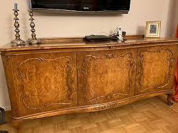 sideboard anrichte wohnzimmer buffet holz antik chippendale