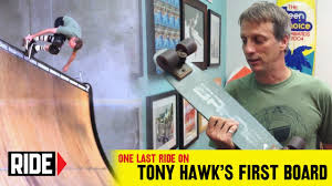 Tony Hawk Tech Deck Half Pipe by Tony Hawk U0027s Final Ride On His Very First Skateboard Tony Hawk