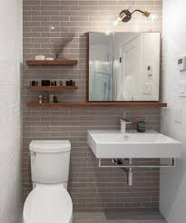 Long Reclaimed Wood Shelves Can Help Draw The Eye From One Part Of Bathroom To