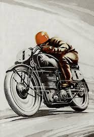 Classic Racing Poster Vintage Motorcycles