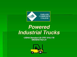 PPT - Powered Industrial Trucks OSHA Standard 29 CFR 1910.178 MIOSHA ... Forklift Top 6 Common Osha Compliance Pitfalls For Powered Sample Generic Checklist Industrial Trucks Youtube Gensafetysvicespoweredindustrialtruck The Safety Drumbeat Ignored As Often Its Heard University Operator Traing Osha Forklift Fact Sheet Elegant Etool Associated Regulations Required Power Truck Features Continue To Evolve Ehs Pit Pp T