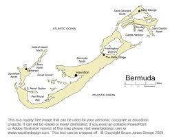 Bermuda Map Hamilton Caribbean Royalty Free Jpg