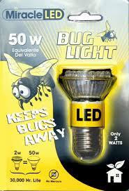 led bug repellent light bulb 50 watt equivalent uses 2 watts