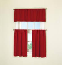 Brylane Home Kitchen Curtains by Lovely Red Kitchen Curtain Taste