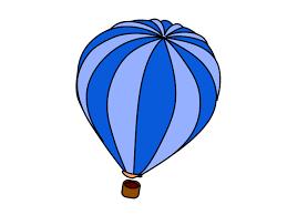 Hot Air Balloon Blue