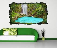 3d wandtattoo wasserfall wasser meer see wald selbstklebend wandbild wandsticker wohnzimmer wand aufkleber 11o1235