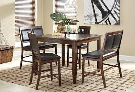 Pub High Dining Tables Room Bar Height Table With Bench