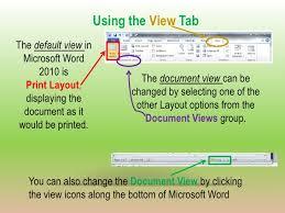Microsoft Word 2010 Beginning Class