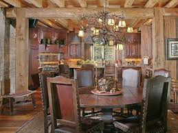 Rustic Dining Room Ideas Rooms Images With Pendant Lamps And Painting