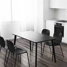IKEA Black Dining Table & Chair Set (4 People), Furniture ... Steel Ding Room Chairs Kallekoponnet Modern Narrow Table Set Cute With Photo Of 36 Round Natural Laminate With Xbase And 4 Ladder Back Metal Black Vinyl Seat 2 Ding Tables 8 Chairs In Metal Black Retro Design Square Walnut Grid Barstools Amazoncom Shing Wood Laneberg Svenbertil Brown Lucano Marble Leather Mesmerizing Iron Legs Reclaimed Base 5 Piece Kitchen Tag Archived Of Polyurethane Likable Pcs Table