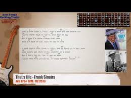that s life frank sinatra guitar backing track with chords and