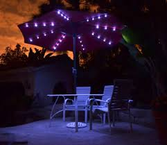 Solar Lighted Patio Umbrella by Solar Powered Lighted Patio Umbrellas Homprotek Comquality Patio
