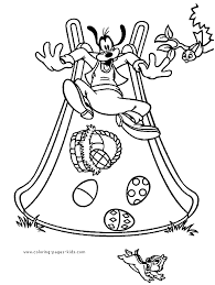 Goofy Disney Easter Coloring Printable For Kids