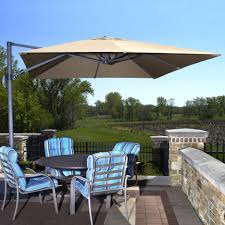 Solar Lighted Rectangular Patio Umbrella by White Rectangle Patio Umbrella With Solar Lights Aside Blue Lap