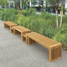 Teak Outdoor Bench Modern — TEAK FURNITURES Simple and Natural