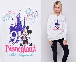 disneyland sweatshirt mickey mouse 1991 disney sweater 90s