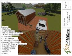10x20 Storage Shed Plans by 10x20 Tall Gable Shed Plan