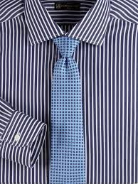 corneliani wide striped dress shirt in blue for men lyst