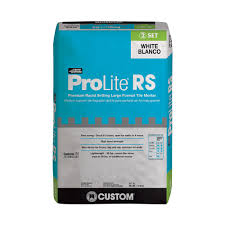 Tile Adhesive Over Redguard by Custom Building Products Prolite White 30 Lb Rapid Setting Tile