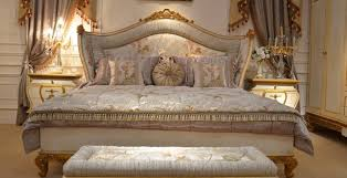 5 tlg schlafzimmer komplett set königliches barock bett schminktisch nachttisch
