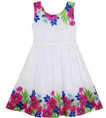 girls dress flower garden print elegant chinese style u2013 sunny fashion