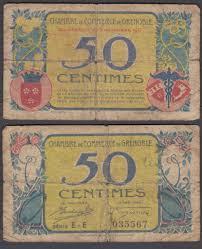 chambre commerce grenoble 50 centimes 1917 vg condition banknote grenoble chambre