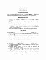 Payroll Specialist Resume Sample Best Of Bank Reconciliation Accounts Payable