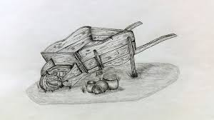 old wheelbarrow A malins sketch art