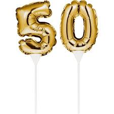 kuchenpicker folienballon gold zahl 50