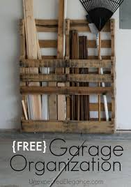 If You Need To Organize Your Garage Then Check Out How Make Some Easy And FREE Changes DIY Solution Using Pallets