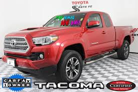 Certified Pre-Owned 2016 Toyota Tacoma TRD Sport In Santa Fe ... For Sale 2009 Toyota Tacoma Trd Sport Sr5 1 Owner Stk P5969a Www 2001 Toyota For Sale By Owner In Los Angeles Ca 90001 2017 Tacoma V6 Angleton Tx Area Gulf Coast Used 2018 Sr Truck Sale West Palm Fl 93984 Trucks Abbeville La 70510 Autotrader Gonzales Vehicles 2015 Prerunner Rwd For Ada Ok Jt608a 2010 Sr5 44 Double Cab Georgetown Auto Lifted Trd 36966 Within 2016 Offroad Long Bed King Shocks Camper Tempe Az Serving Chandler Roswell Ga Gx001234