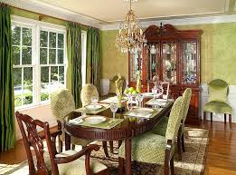 Update Traditional Dining Room Exquisite Use Of Wallpaper In The Cozy Design