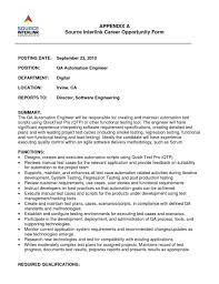 Tester Sample Resume For Qtp Automation Testing Experienced Selenium Manual Qa