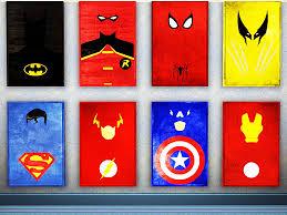 Vintage Superhero Wall Decor by Wall Art Designs Superhero Wall Art Superhero Ideas Superhero