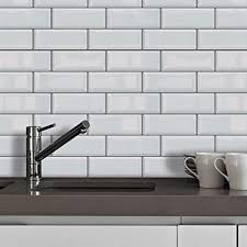 walplus glossy sticker fliesen 30 cm x 15 cm premium wand peel und stick backsplash mosaike selbstklebend küche backsplash peel und stick