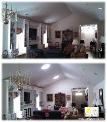 The Owners Of This Beautiful Condo Had To Turn On All Hot Glaring Recessed Lights Every Time They Walked Into Their Dining Family Room