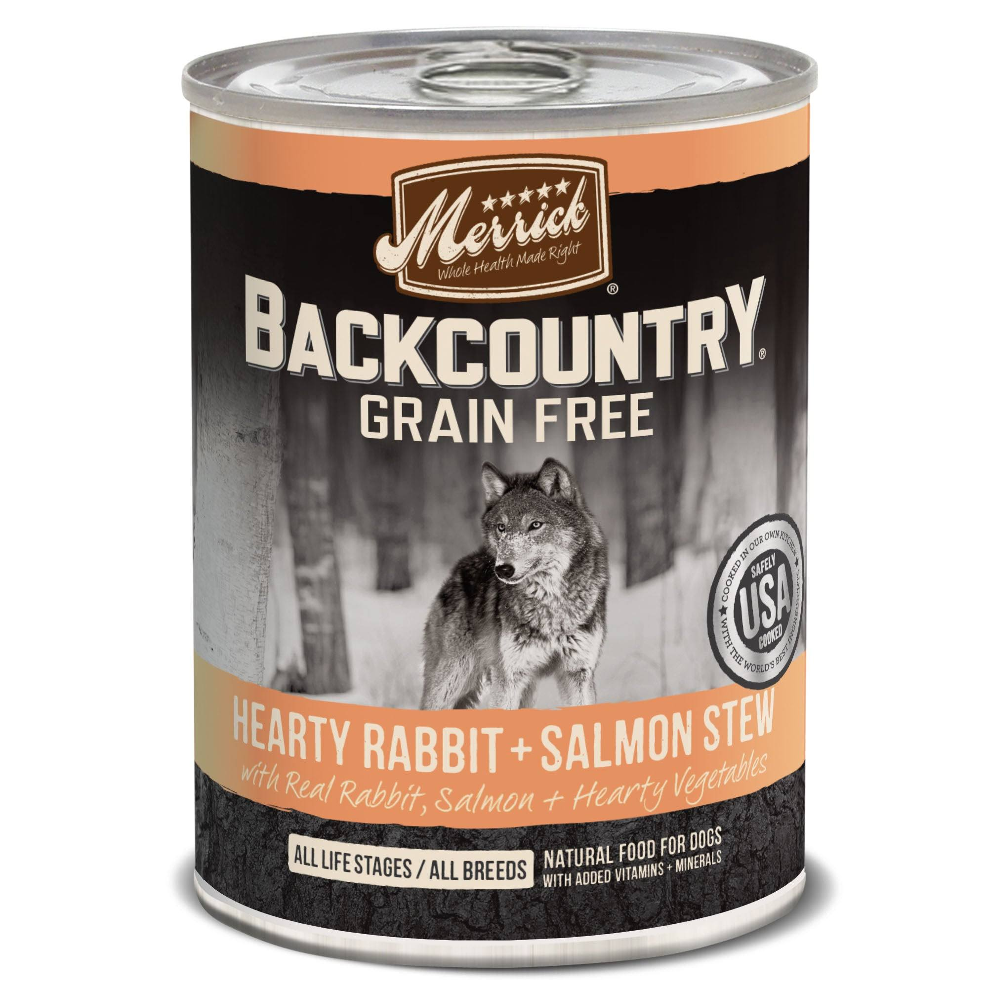 Merrick Backcountry Hearty Rabbit & Salmon Stew Canned Dog Food