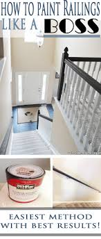 How To Paint Stair Railings | Painted Stair Railings, Paint Stairs ... Best 25 Spindles For Stairs Ideas On Pinterest Iron Stair Remodelaholic Diy Stair Banister Makeover Using Gel Stain 9 Best Stairs Images Makeover Redo And How To Paint An Oak Newel Like Sanding Repating Balusters Httpwwwkelseyquan Chic A Shoestring Decorating Railings Ideas Collection My Humongous Diy Fail Your Renovations Refishing Staing Staircase Traditional Stop Chamfered Style Pine 1 Howtos Two Points Honesty Refishing Oak Railings