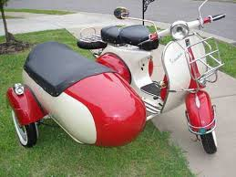 Beautiful Vintage 1964 Vespa With Sidecar