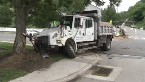 100 Dump Truck Crash Truck Crashes Into Utility Pole In Roxborough 6abccom