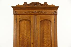 Oak Carved Victorian 1895 Antique Armoire, Wardrobe Or Closet ... Vintage Used Armoires Wardrobes Chairish Fniture Painted Armoire Large Wardrobe Antique Perfect For Doing Your Makeup Before Work And Aessing Closet Ideas Modern Home Interiors 112 Best Images On Pinterest Victorian 1870 Walnut Or Mirror Eastlake Ebth Wardrobe Cart Awesome French Hand Gorgeous Armoire Shabby Chic Louis Xvi Style Cane Grey Rose Swag 5 Door 1890 Oak Ash Cabinet