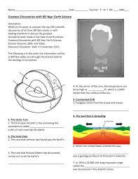 Sea Floor Spreading Model Worksheet Answers by Bill Nye Geology Worksheet