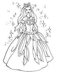 Free Colouring Princess Pages Photo