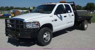 2009 Dodge Ram 3500 Quad Cab Flatbed Pickup Truck | Item J87...