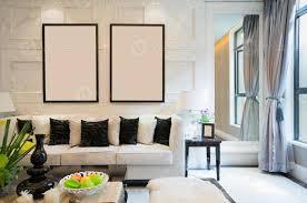 schwarz weiß luxus wohnzimmer 1261854 stock foto